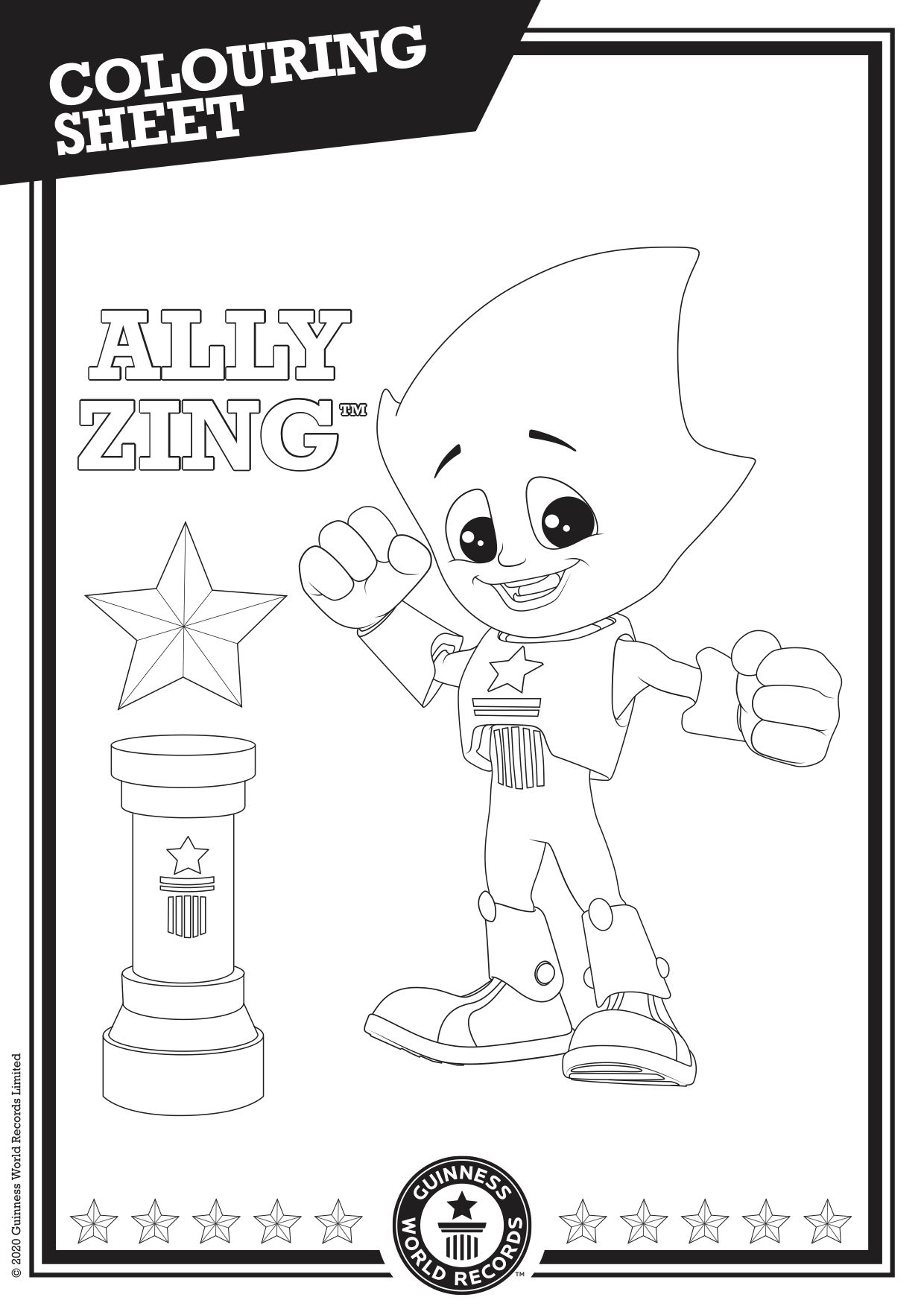 Guinness World Records Coloring Sheet World Records Guinness World Records Guinness