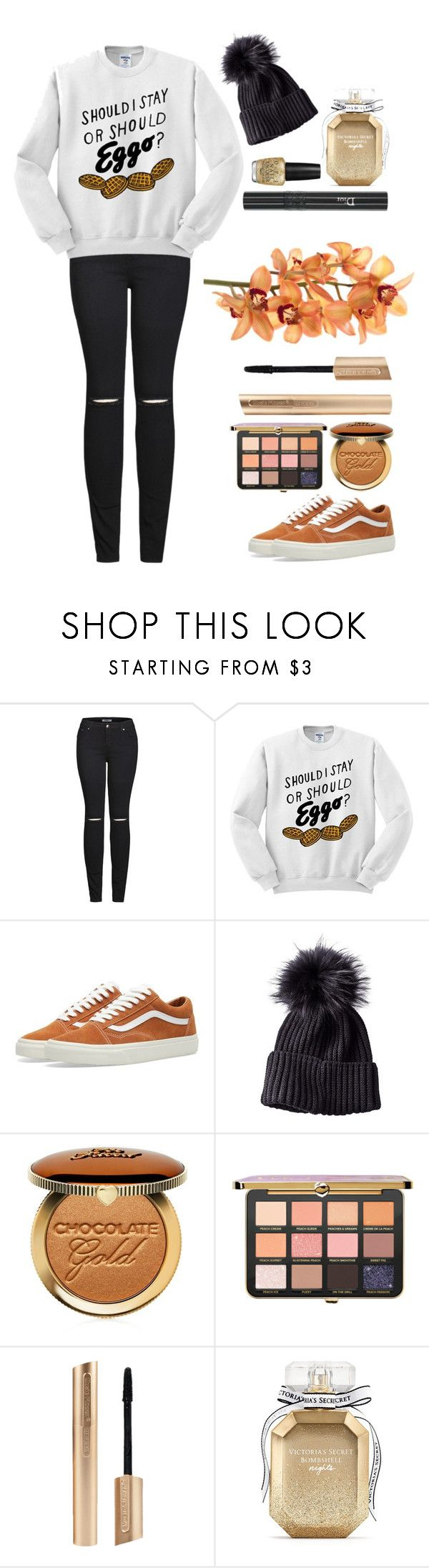 """""""Untitled #368"""" by izzwhizzicorn on Polyvore featuring 2LUV, Vans, Too Faced Cosmetics, OPI, Christian Dior and Victoria's Secret"""