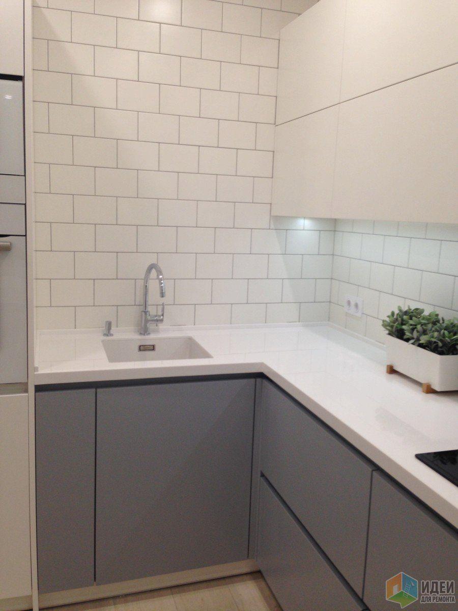 серо белая кухня фото