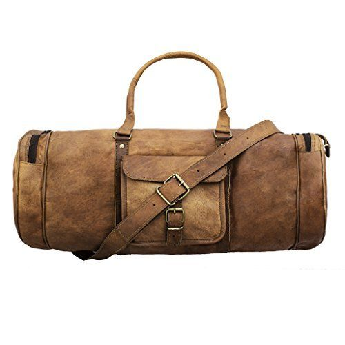 cfe6ba48cb  85 - Handmadecart Leather Duffel Bag for Men and Women Overgnight Duffel  Bags Weekend Diaper Travel Luggage Gym Tote Bag Tan