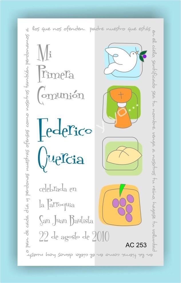 tarjetas estampas de primera comunion ( x 27 unid.) | Primera ...