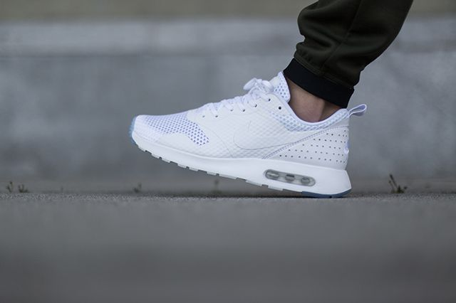 the latest 529b6 f6705 Nike Air Max Tavas White   JUS 4 KICKS   Nike air max, Nike shoes, Air max