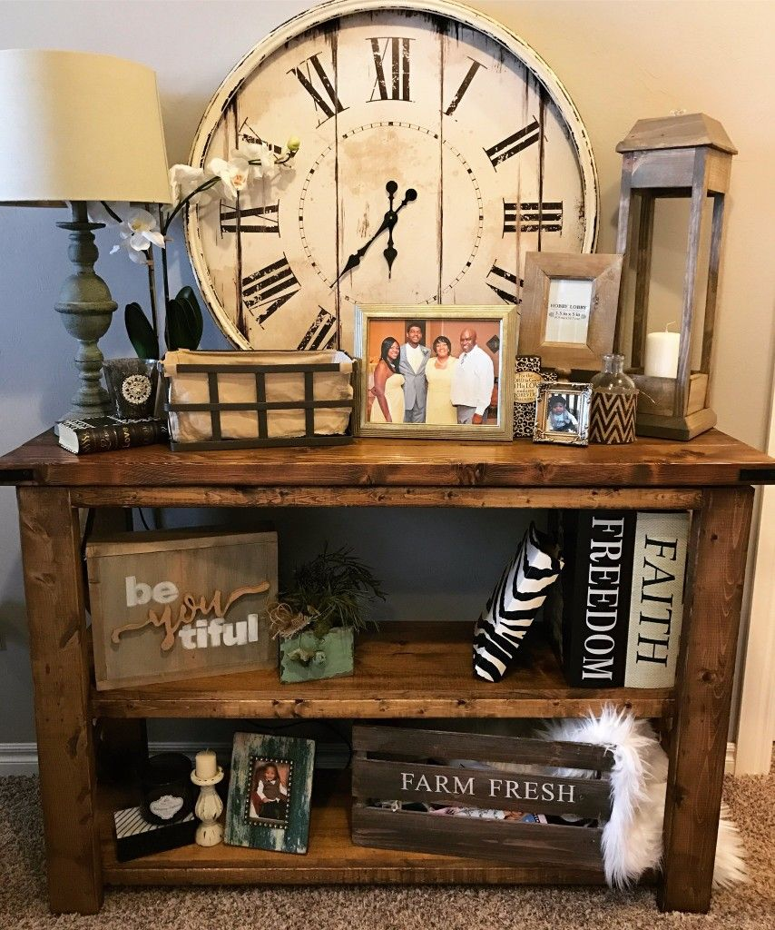 dining room side table. Roman Numeral Clock, Farmhouse, Diy Decor, Home Living Room, Dining Room Side Table E