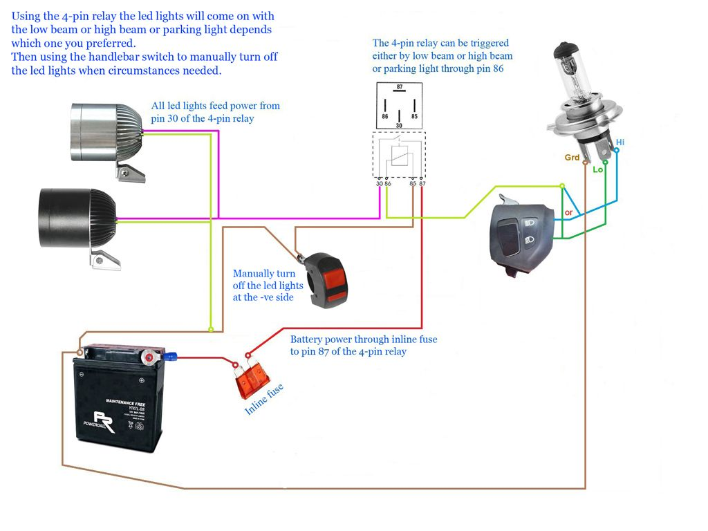 Fog Light Wiring Diagram 4 Pin