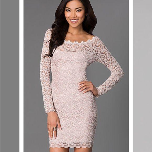 Natural Cocktail Dresses, Lace Short Dresses, Elegant