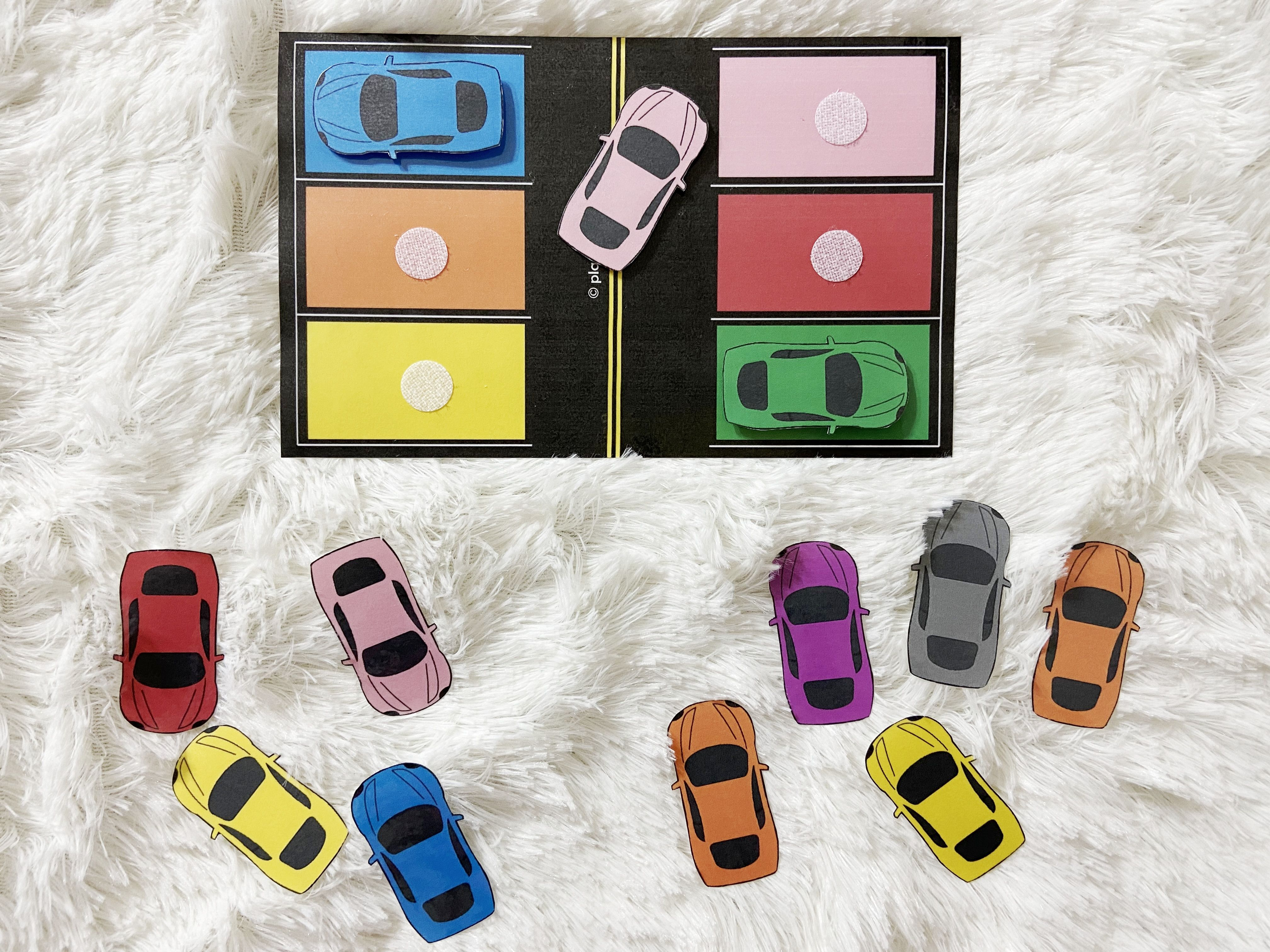 Car Parking Color Matching Activity Toddler Busy Bags