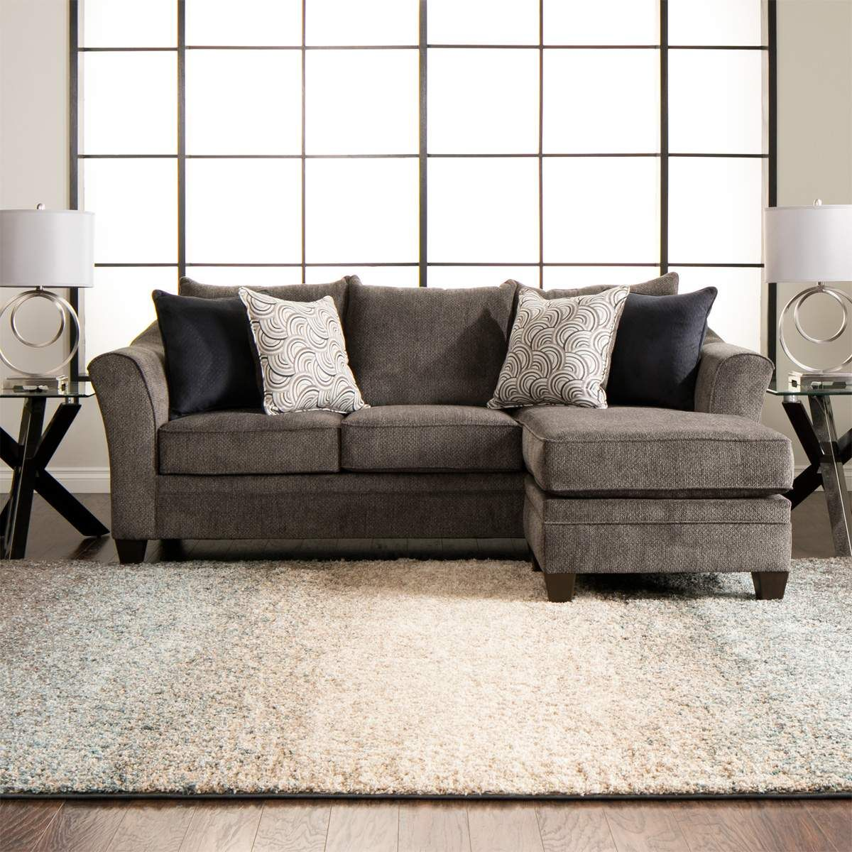 Admirable Albany Sofa Chaise In Pewter In 2019 For The Home Ibusinesslaw Wood Chair Design Ideas Ibusinesslaworg
