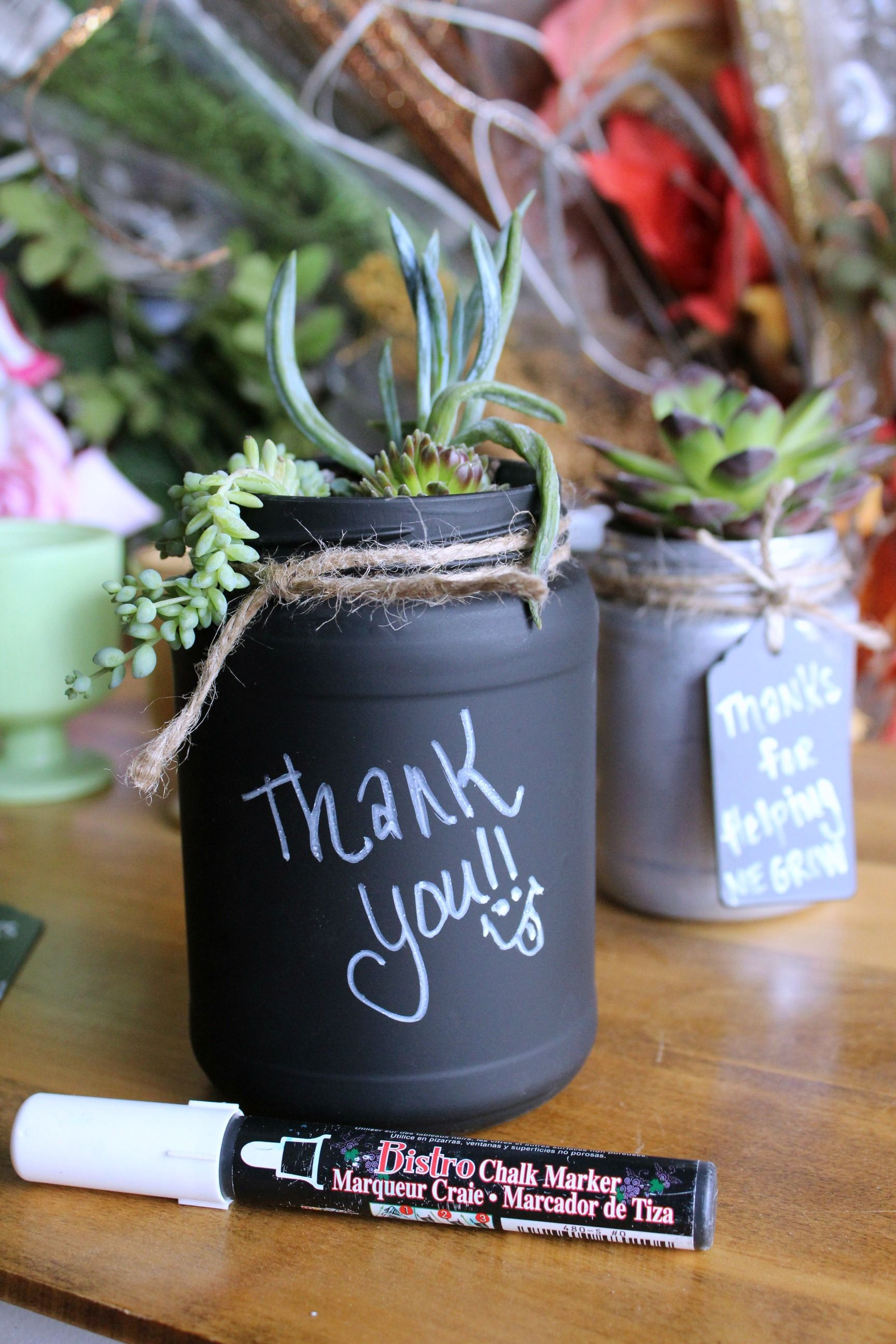 Diy succulent mason jar gifts jar gift and teacher christmas gifts