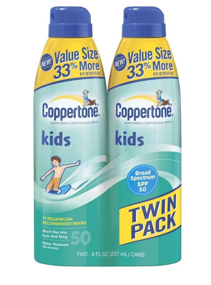 29e709a049ded Coppertone Kids Sunscreen Spray SPF 50 Value 2-Pack  Coppertone ...