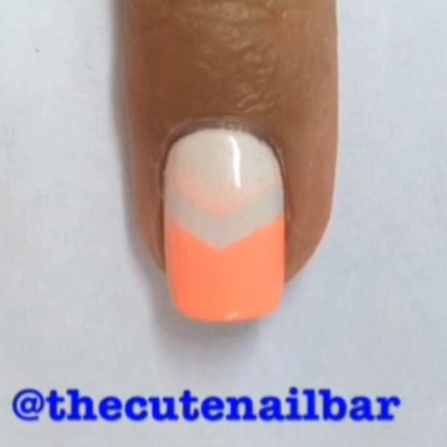 WOW! I actually really loved the way this mani came out. The colours are just so bright, and so perfect for summer. Make sure that your base is completely dry before putting on the vinyls. In this video I used @whatsupnails Vinyls, and they worked so well! I got really clear lines, and they were so easy to use!  Products used: ~Flip Flop Fantasy by @chinaglazeofficial ~Pure Love by @ellamilapolish ~Cosmetic Wedge (I buy mine from the dollarama) ~@whatsupnails Vinyl Chevrond
