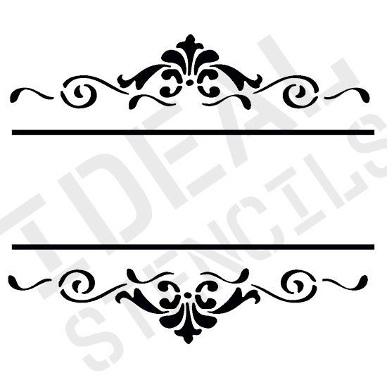 Art Deco style frame stencil vintage shabby chic wall furniture painting stencil