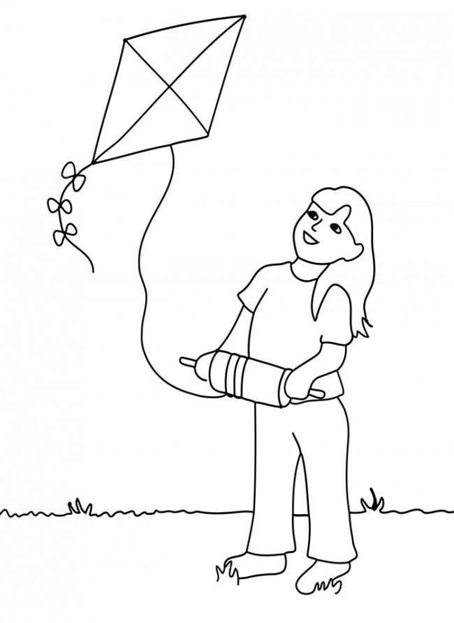 Free Printable Kite Coloring Pages For Kids Cool Coloring Pages