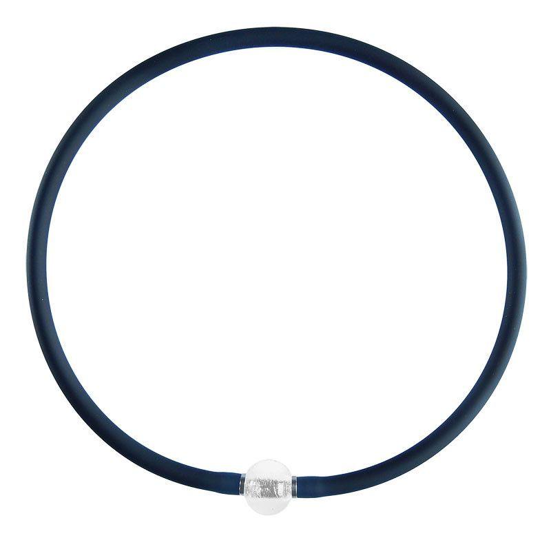 TUBINO Murano Glass SPARKLE Necklace • crystal silver