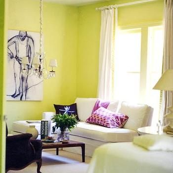 Yellow Green paint Color s- Contemporary, living room, Behr Pear ...
