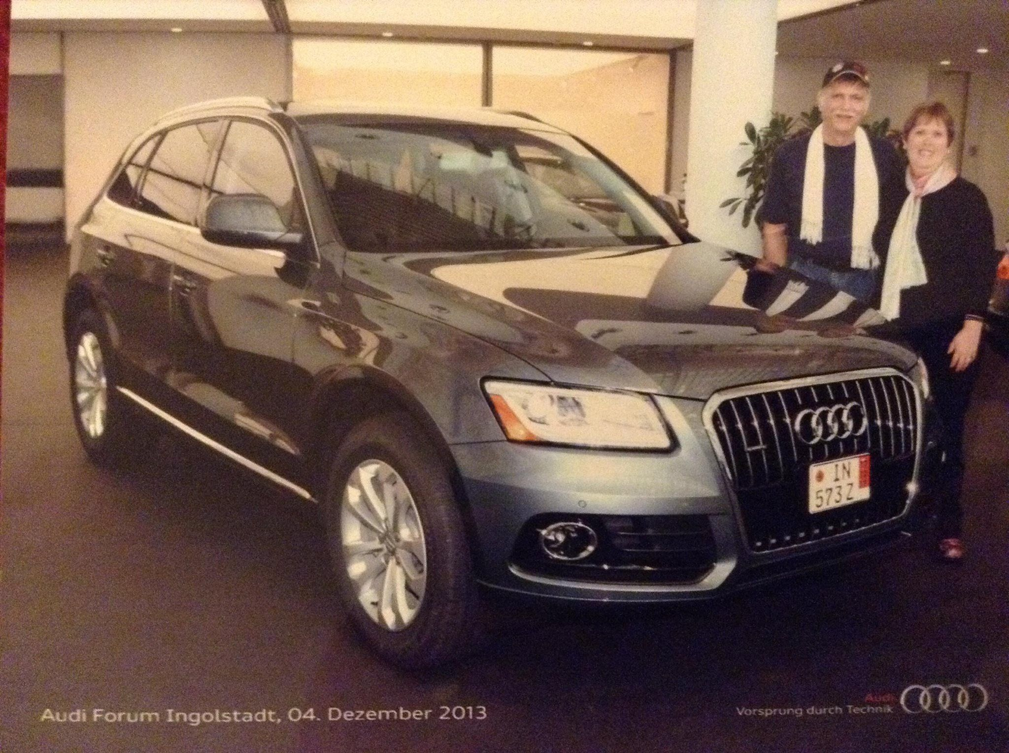 My 2014 Audi Q5 delivered to me in Ingolstadt, Germany!