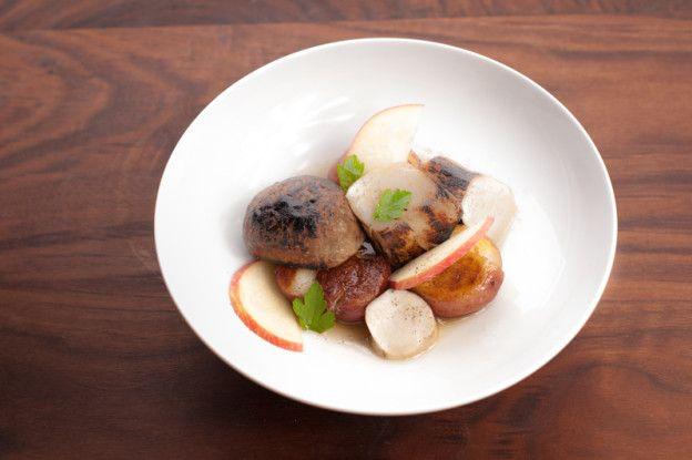 Porcini, Potato, Apple hen you have beautiful ingredients like the fresh porcini mushrooms(aka cèpes or king bolete) that I found …