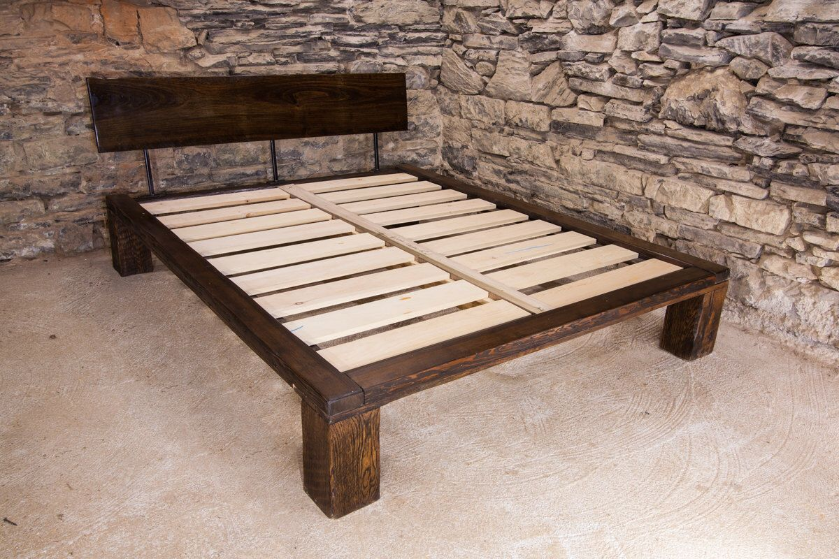 The Lakeside Modern Platform Bed from Reclaimed Wood