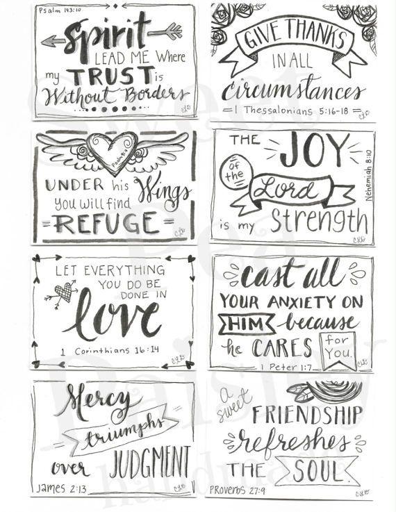 Printable Scripture cards #1, inspirational cards