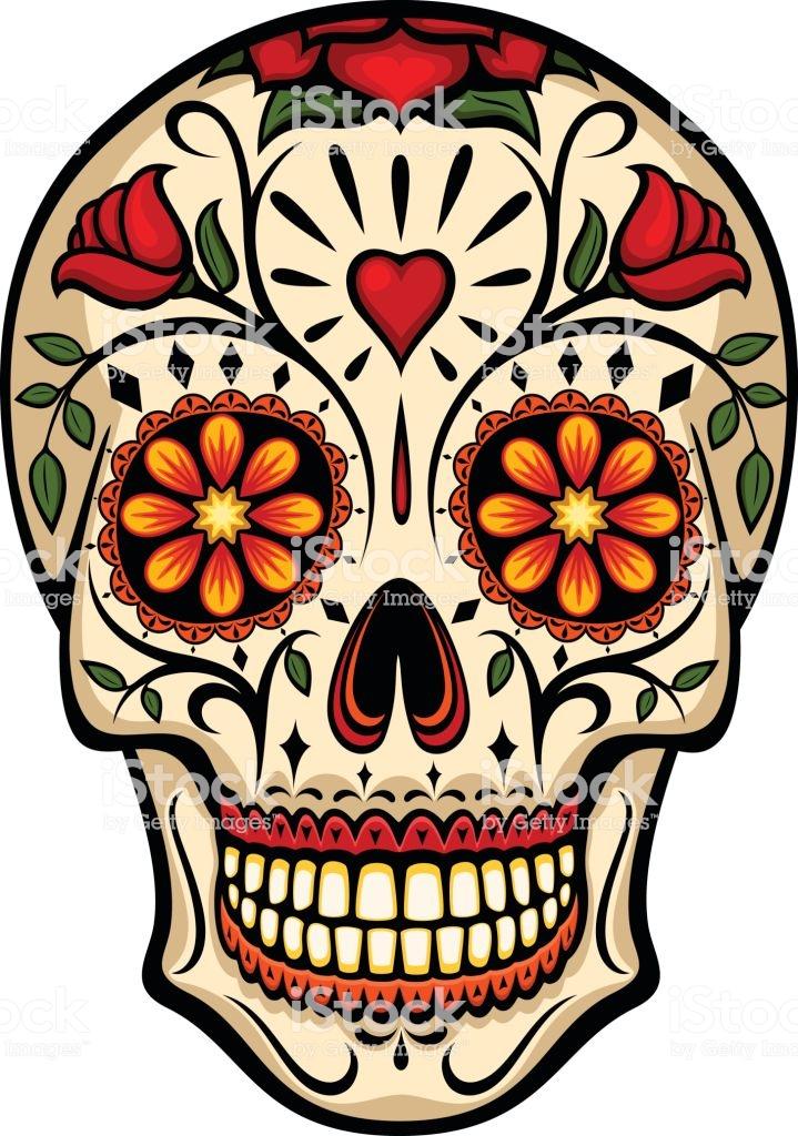 Sugar Skull Royalty Free Sugar Skull Stock Illustration Download Image Now Sugar Skull Images Skull Painting Sugar Skull Artwork