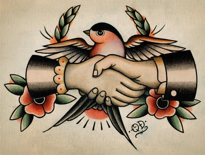 Ive Always Been Fond Of The Vintage Tattoo Designs Featuring Hands So I Had To Do My Own Rendition It