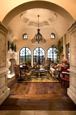 Great Living Room Love The Ornate Mantle Ceiling Windows Italian Home Decor Mediterranean Home Decor Tuscan Design