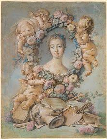 Madame de Pompadour - François Boucher  1754, National Gallery of Victoria