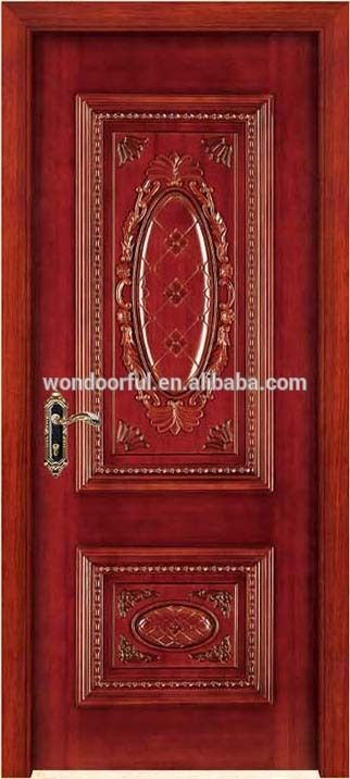 New 2017 Wooden Single Main Door Decorative Wood Carving Design