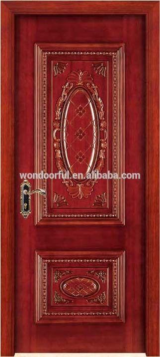 New wooden single main door decorative wood carving