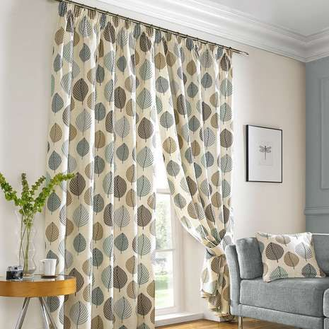 Duck egg regan lined pencil pleat curtains for dining room for Duck egg dining room ideas