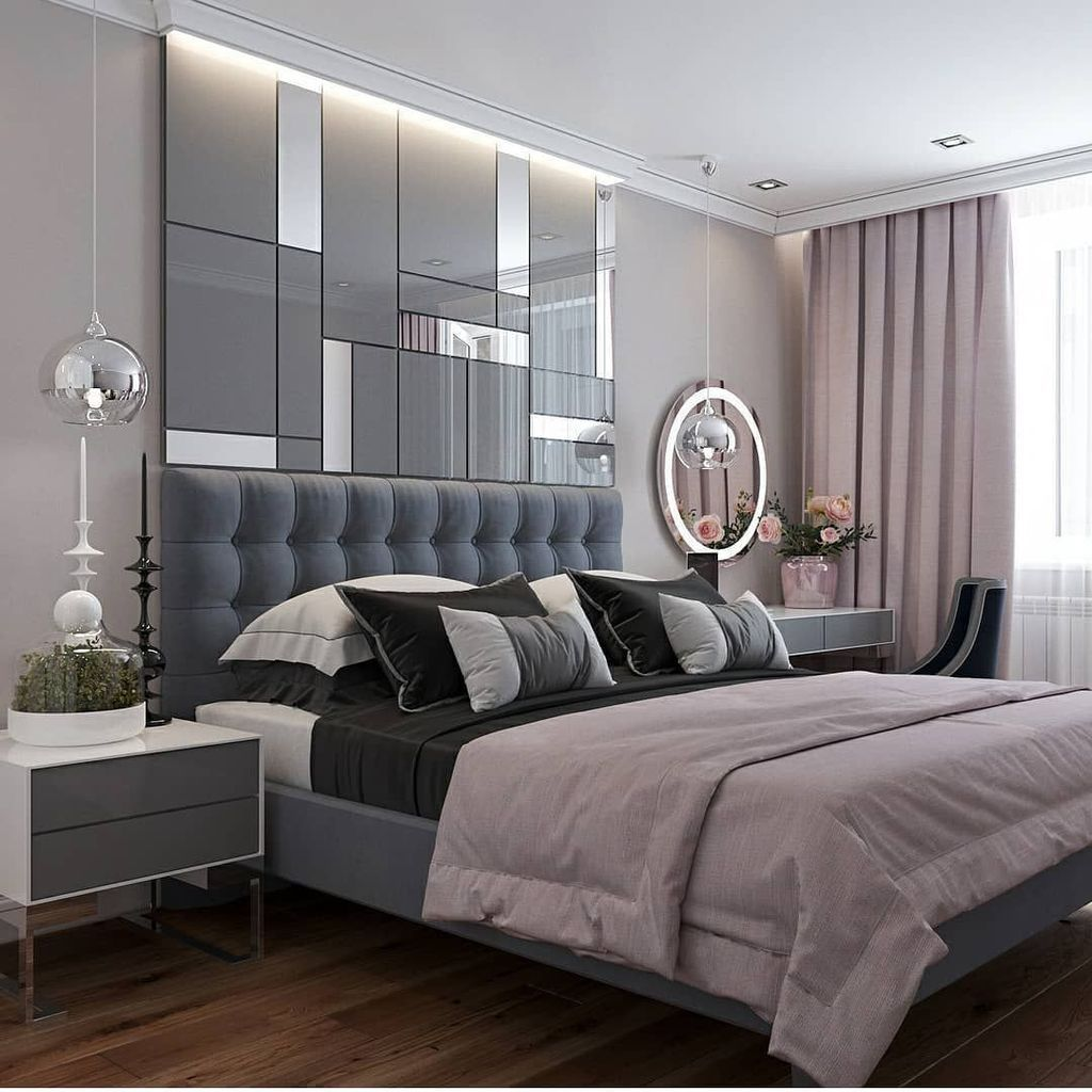 44 Lovely And Cozy Bedroom With Romantic Decor Ideas Best For Couples Bed Design Modern Classic Bedroom Decor Modern Bedroom Interior