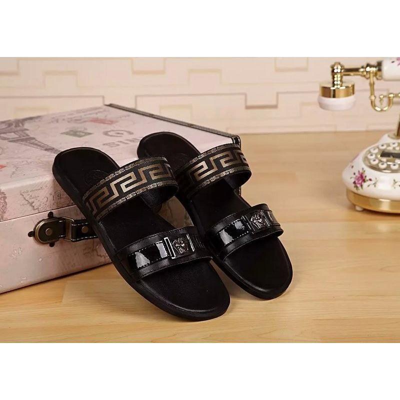 versace dress shoes for men. replica versace slippers for men, flip flops summer fashion brand rubber wear-resistant men dress shoes