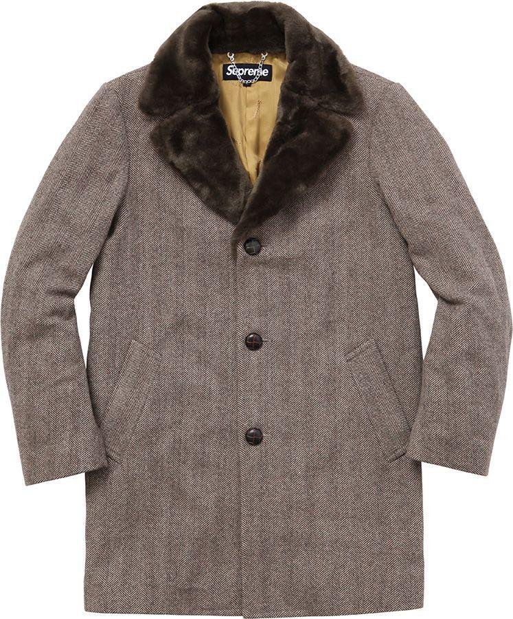 this coat with trim | threads | Pinterest | Tweed coat, Fur ...