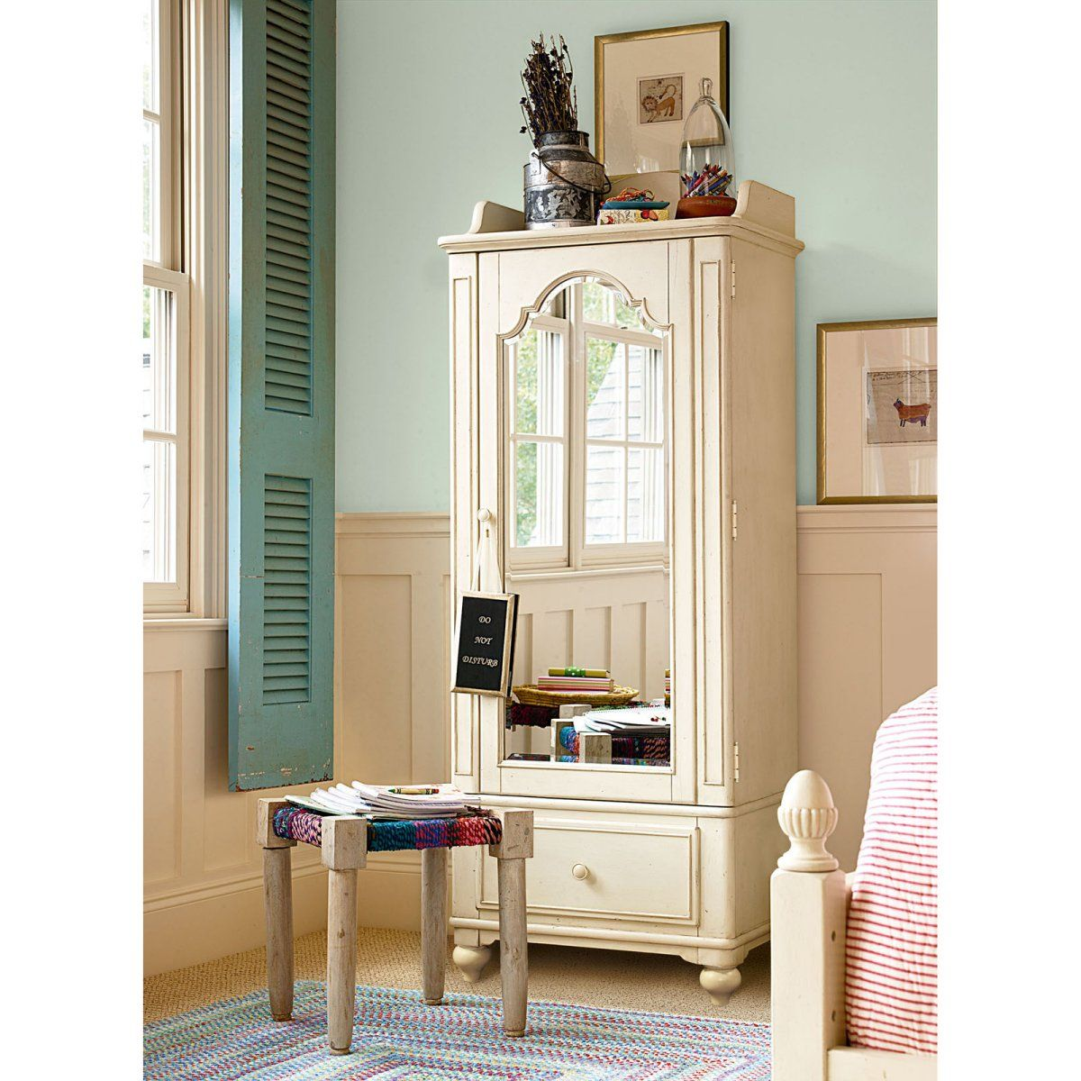 Paula dean gals dressing mirror armoire kids furniture - Armoire dressing miroir ...