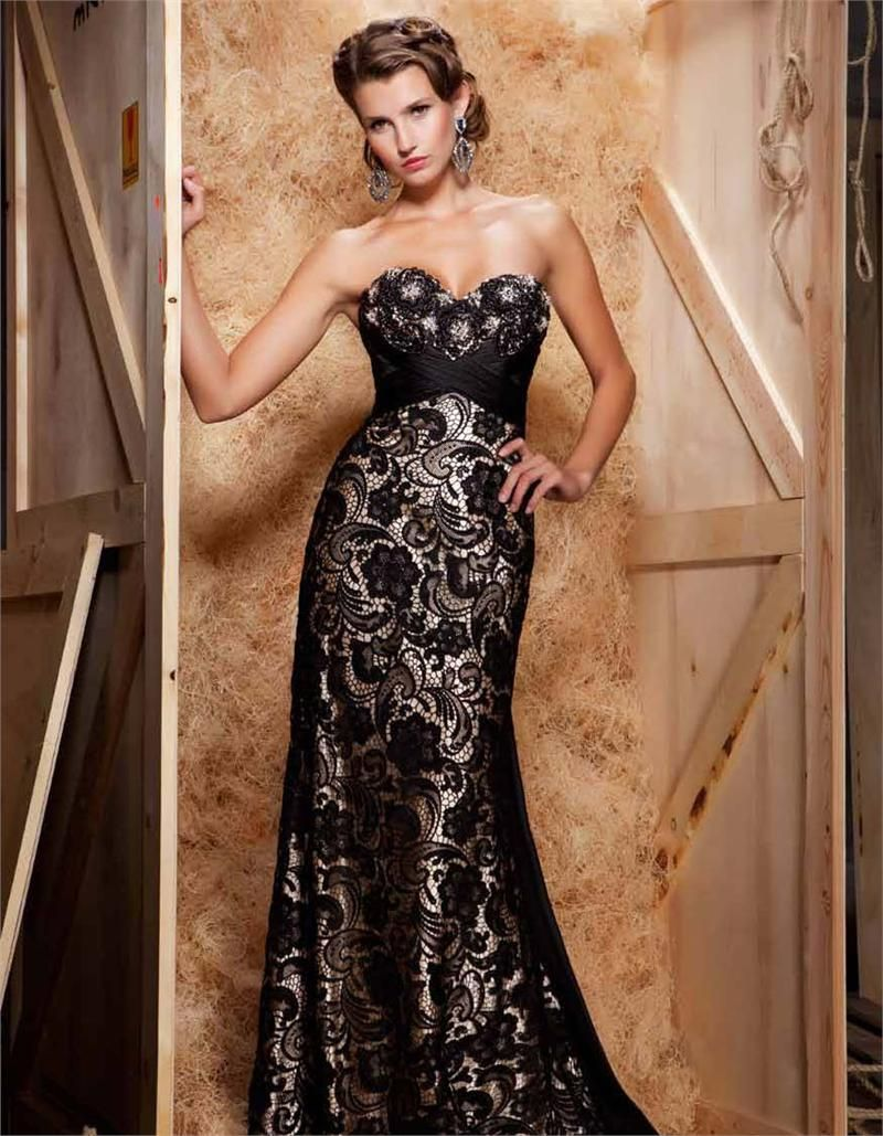 Lace Evening Dress.
