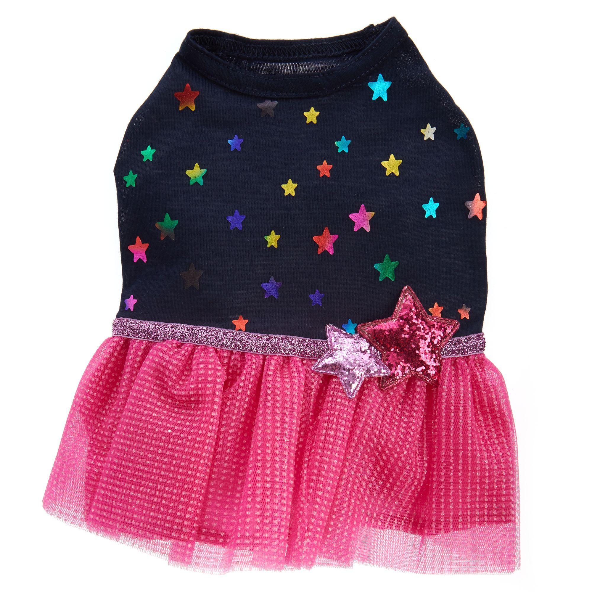 Top Paw Stars And Tulle Pet Dress Size X Small Pet Dress Dog Dresses Mini Skirts
