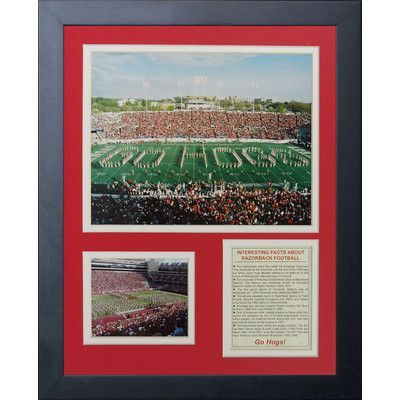 Legends Never Die University of Arkansas - Razorback Stadium Framed Memorabilia