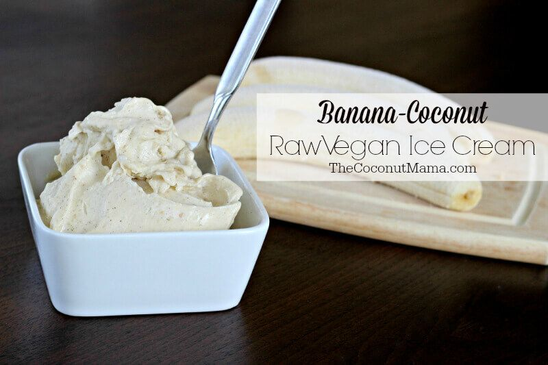 This Raw Vegan Ice Cream Recipe Is Made With Raw Frozen Bananas Coconut And Vanilla Beans And Is As Healthy As An Ice Cream Can Get Vegan Whipped Cream 2 Ingredient