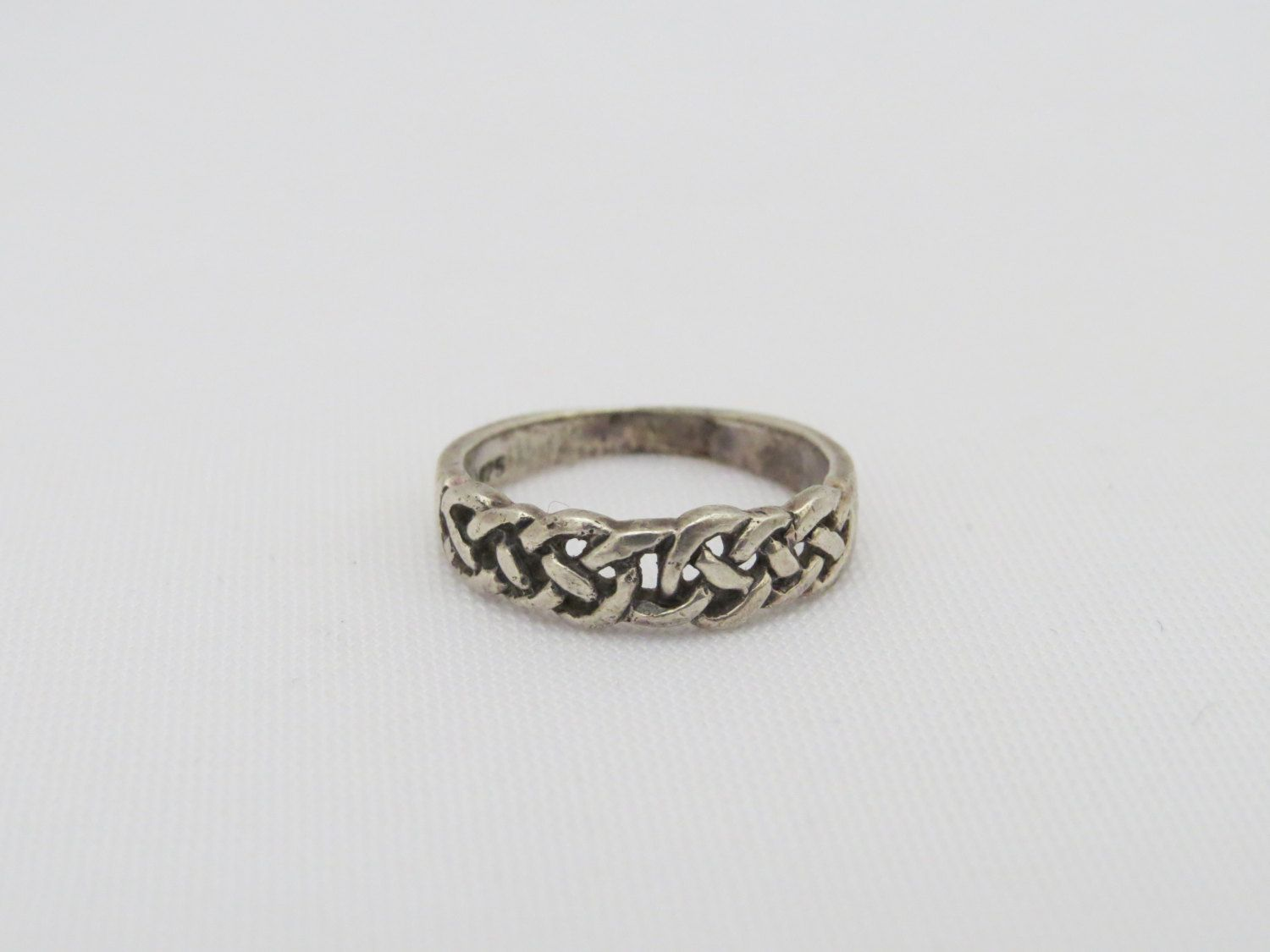 Vintage Sterling Silver Twisted Celtic Band Ring Size 6 by wandajewelry2013 on Etsy