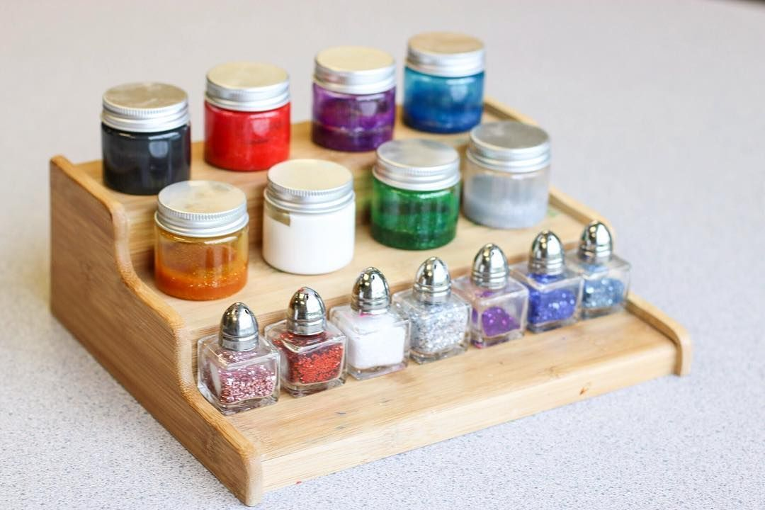 Unique Storage Solutions Liquid Watercolors And Glitter Sand