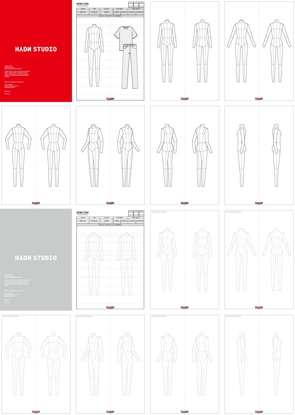 Female Fashion Flats Template Ver2 9head Etsy Fashion Flats Fashion Sketch Template Body Template