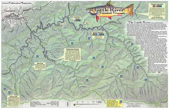 Fly Fishing Tennessee Map.Tennessee Fly Fishing Map Little River Mike S Fly Fishing