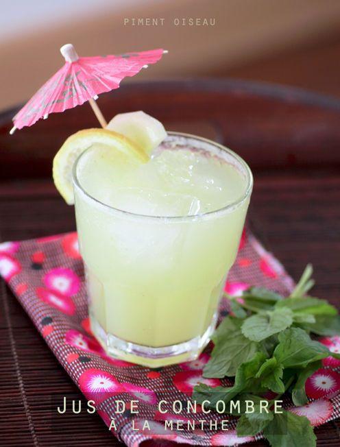 Jus de concombre à la menthe- Mint and cucumber cooler