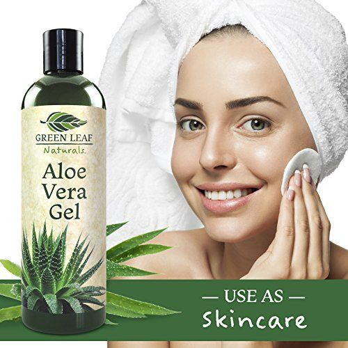 Aloe Vera Gel for Natural Skin Care - Cold Pressed from Pure Organic Aloe Plants - Made in USA - Thin Gel Formula - Perfect for Sunburn, Aftershave, Hair Gel, Moisturizer, Burns, Bites & more - BazarVert.com