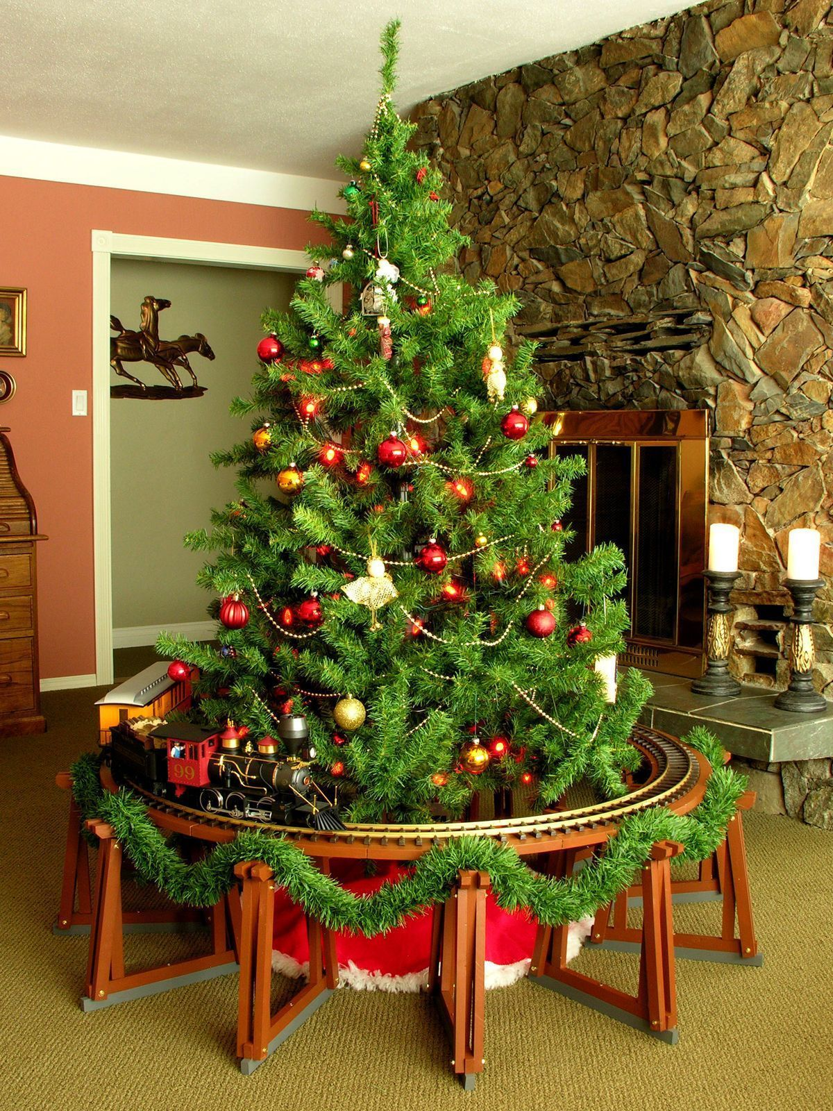 Christmas Tree Model Train Trestle Set - for 4 Foot Tracks - G Scale ...
