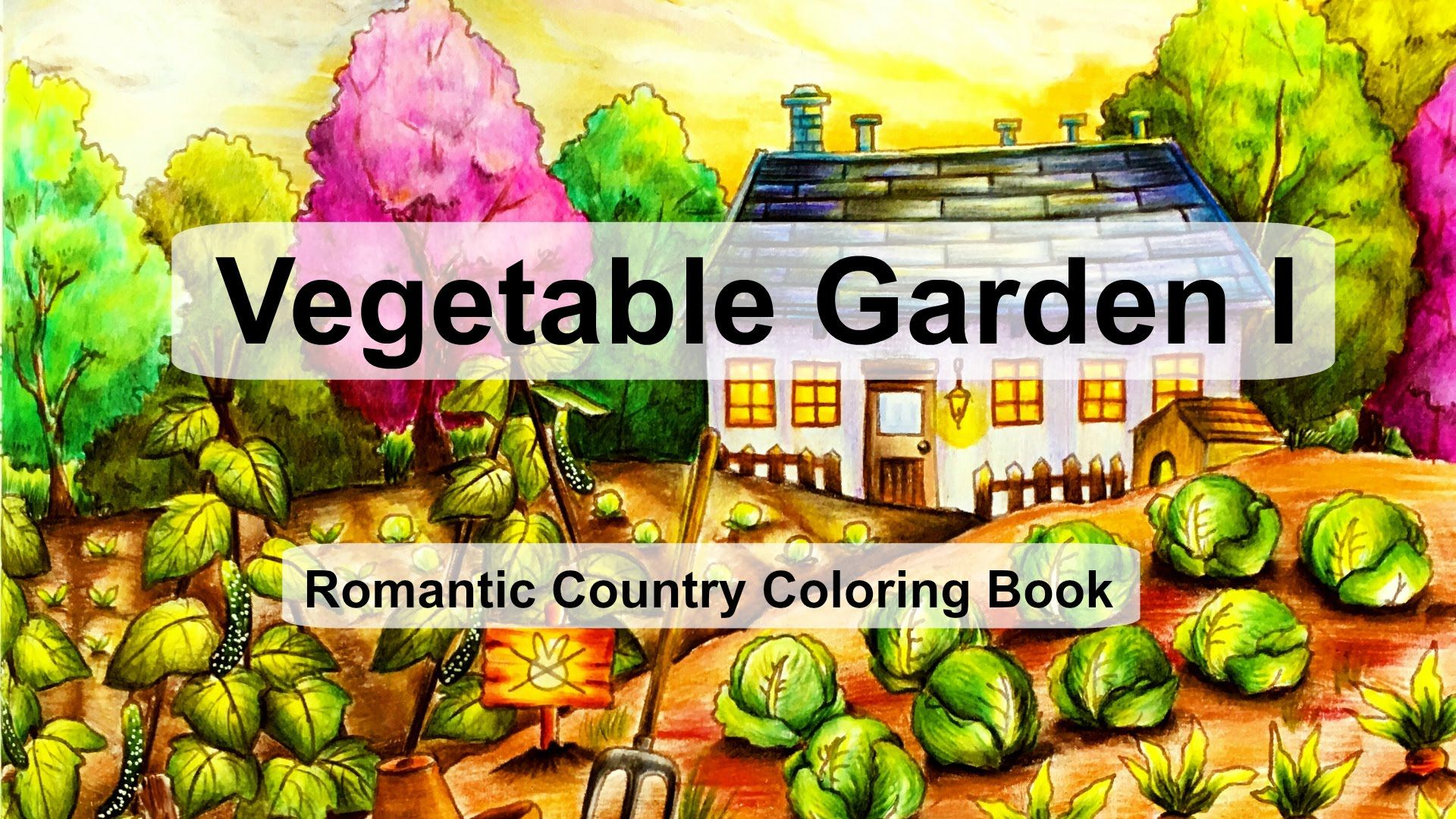 Watercolor pencils for adult coloring book - Vegetable Garden I Adult Coloring Book Romantic Country By Eriy Watercolor Pencilsadult