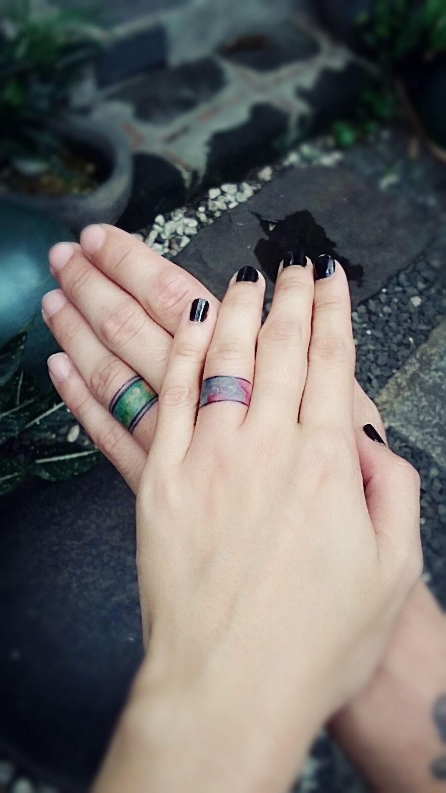 wedding ring tattoo   tattoos   pinterest   wedding ring tattoos