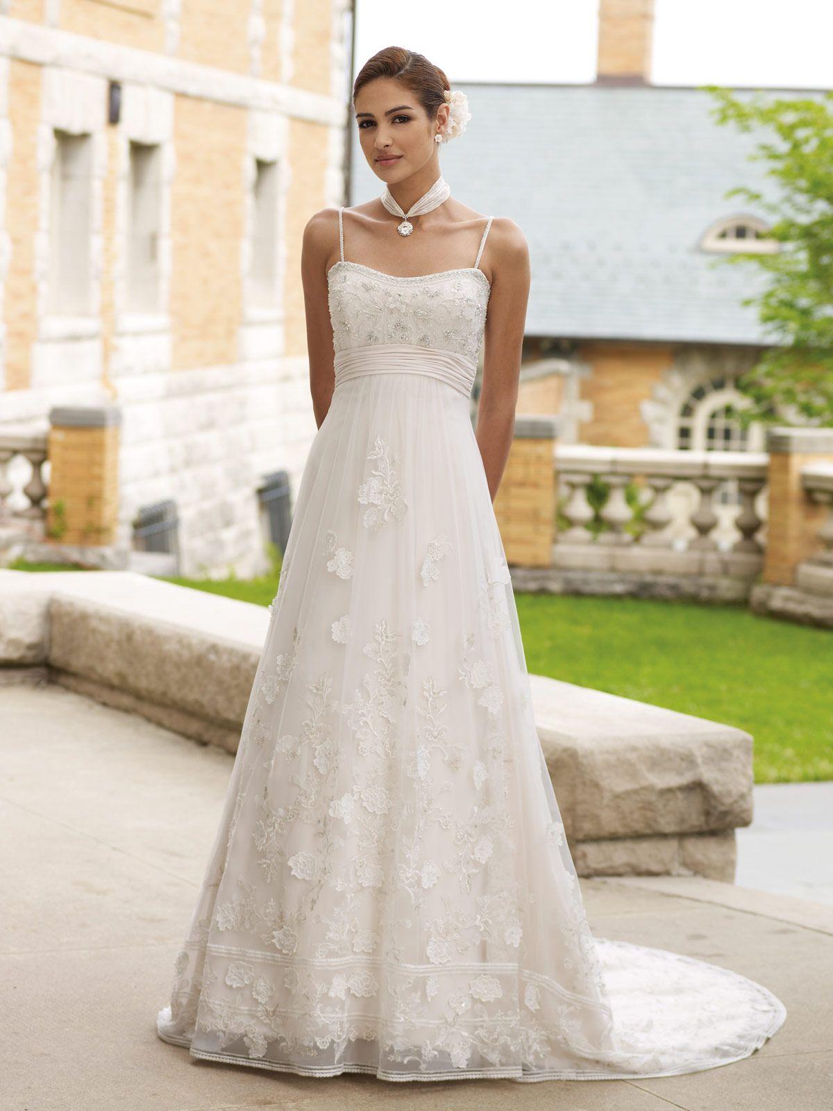 Maternity wedding dress with sleeves  Mon Cheri  Keegan  Wedding Dresses  Pinterest  David tutera