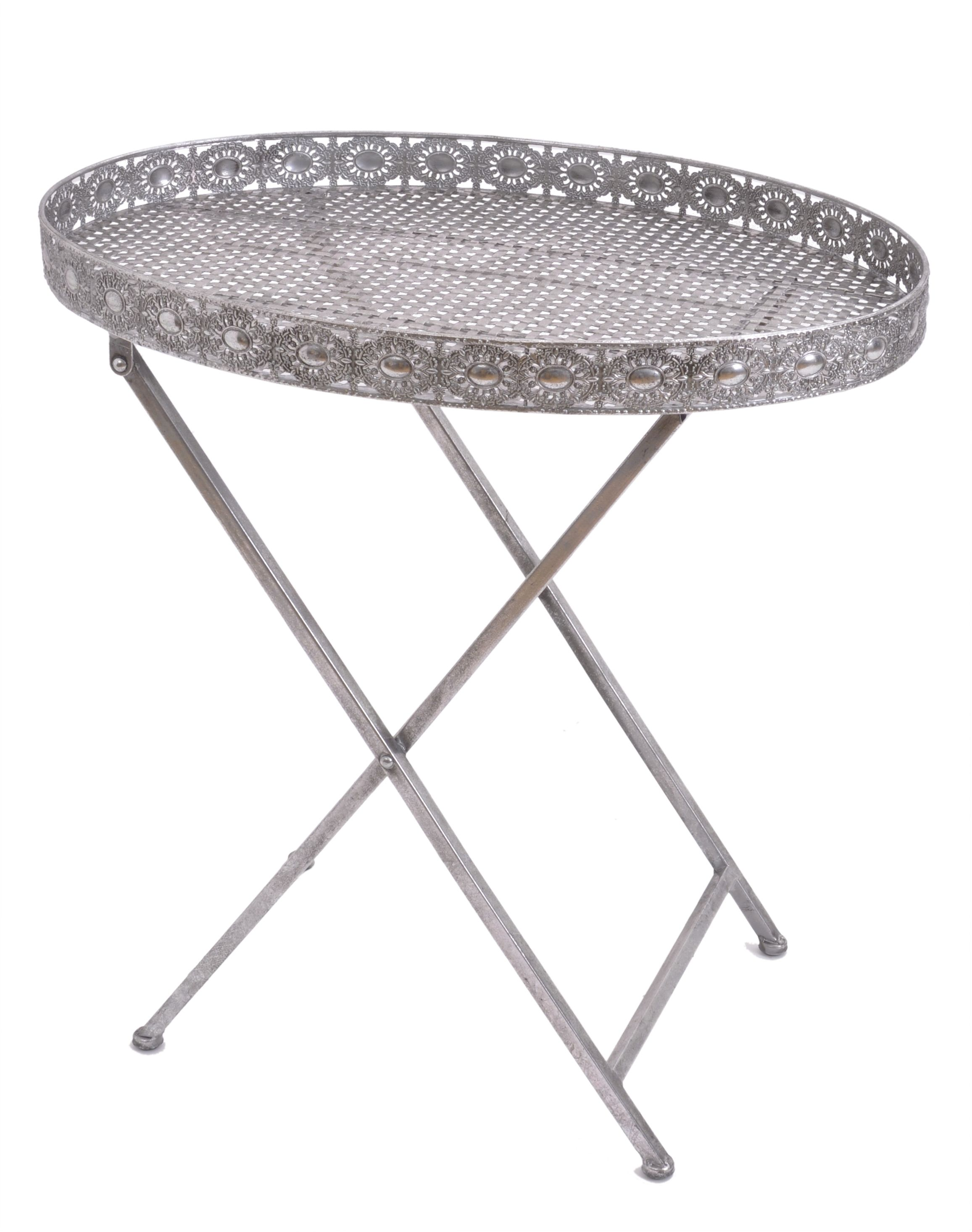 Butler Tray Coffee Table Silver Filigree Tray Table Perfect For The Modern Moroccan Look
