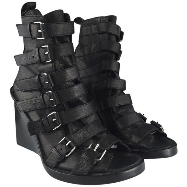 Ann Demeulemeester Leather Multistrap Wedges best sale cheap online best cheap online 1AjPwC8I