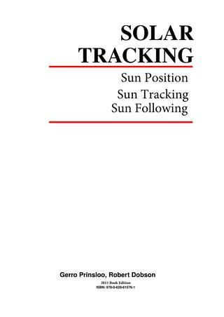 Solar Tracking Hardware N Software Ebook Solar Tracker Solar Alternative Energy